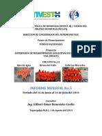 Informes mensual INSEP Honduras