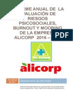 Informe Anual Alicorp Burnout y Mobbing 2017