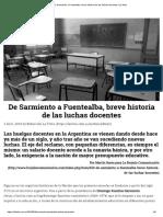 De Sarmiento a Fuentealba, Breve Historia de Las Luchas Docentes
