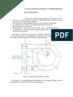 Ecuación de Euler de Las Turbomáquinas