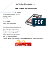 Disaster Science and Management Mr 895932