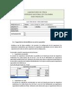 Capacitancia  Serie y Paralelo- Informe de laboratorio