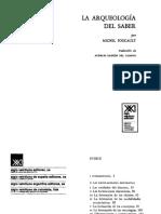 Foucault a Arqueologia Del Saber