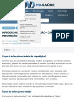 INFECÇÃO URINÁRIA DE REPETIÇÃO