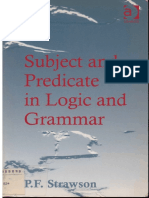 STRAWSON, P.F. - Subject and Predicate in Logic and Grammar