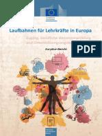 Laufbahnen für Lehrkräfte in Europa