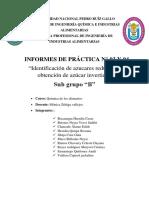 Azucares Reductores Informe PDF