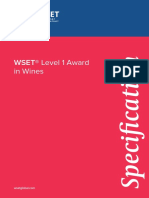 Wset L1wines Specification