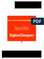 Fire in port