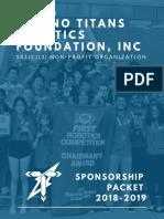 Sponsorship Packet 18-19