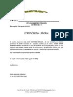 Carta Laboral Glenis Martinez Molina