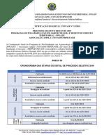 Quinta Retificação - Edital 13-2019 - PPGADT - CRONOGRAMA