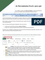 Barra de Herramientas Excel Docx