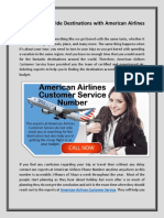Find the Best Routes to the Destinations at American Airlines Customer Service