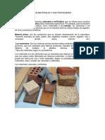 Tipos de Materiales y Sus Propiedades