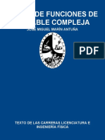 TEORÍA DE FUNCIONES DE VARIABLE COMPLEJA - JOSÉ MIGUEL MARÍN ANTUÑA