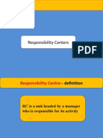 Responsibility Centres