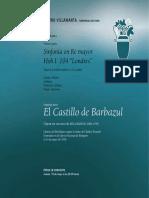 Libreto El Castillo de Barba Azul