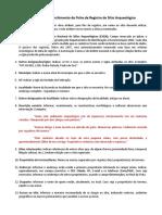 Manual Para Preenchimento Da Ficha de Registro de Sítio Arqueológico