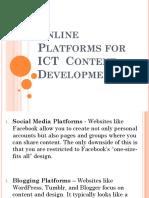 Online Platforms for ICT Content Development