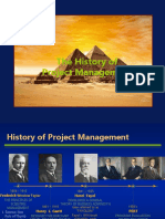 History of Project Man