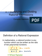 11.3 Multiplying and Dividing Rational Expressions