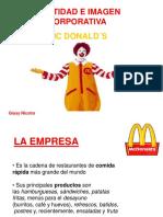 IDENTIDAD E IMAGEN CORPORATIVA MC DONALD´S