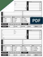 Charactersheet Eng HalfSheet BW Clean