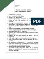 Ficha Tecnica de Cuaderno