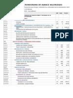 DO2E - Cronograma Valorizado