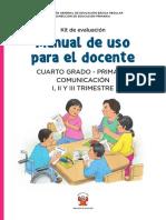 Kit Evaluacion Manual Uso Docente 4to Primaria Comunicacion
