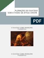 Uma Exploração Do Suicídio Sob a Visão da Ética Cristã