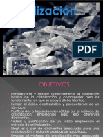 Laboratorio de química orgánica cristalización