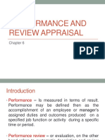 HRM- PERFORMANCE AND REVIEW APPRAISAL
