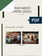 Tengo Miedo Torero (2001)