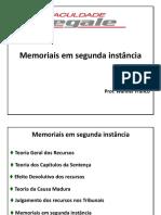 Memoriais em segunda instância