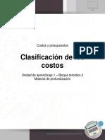 Costos Presup U1 B2 Profundizacion Clasificacion Costos
