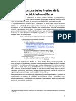 Precios de La Electricidad en El Perú (2019)
