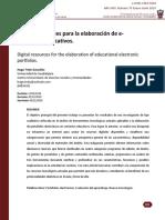 Recursos digitales para la elaboración de e-portafolios educativos.