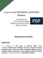 Respiratory Stimulants, Bronchial Dilators-Dr.Jibachha Sah,M.V.Sc,Lecturer