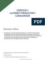 EJERCICIO 1 Superavit Consumidor y Productor