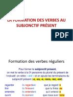Formation Des Verbes Au Subjonctif Présent