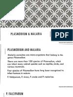 Plasmodium and Malaria