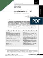Guevara Vásquez - El Decreto Legislativo 1307