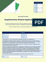NDVO Supplementary Student Application Form