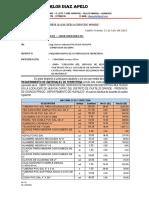 Informe 0015 - Requerimientoo de Materiales de Ferreteria