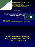 Curso Tasaciones III Metodologia Div y Part