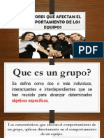 factores que afectan el comportamiento de los grupos