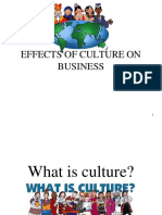 BE -U3 Effects of Culture on Business