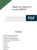 """Nano Simulator for nano-scale mosfet"" by pragya kushwaha,panjab university(2009-2011)"